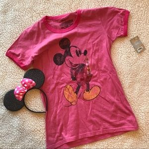 Women's Pink Mickey Mouse Tee NWT